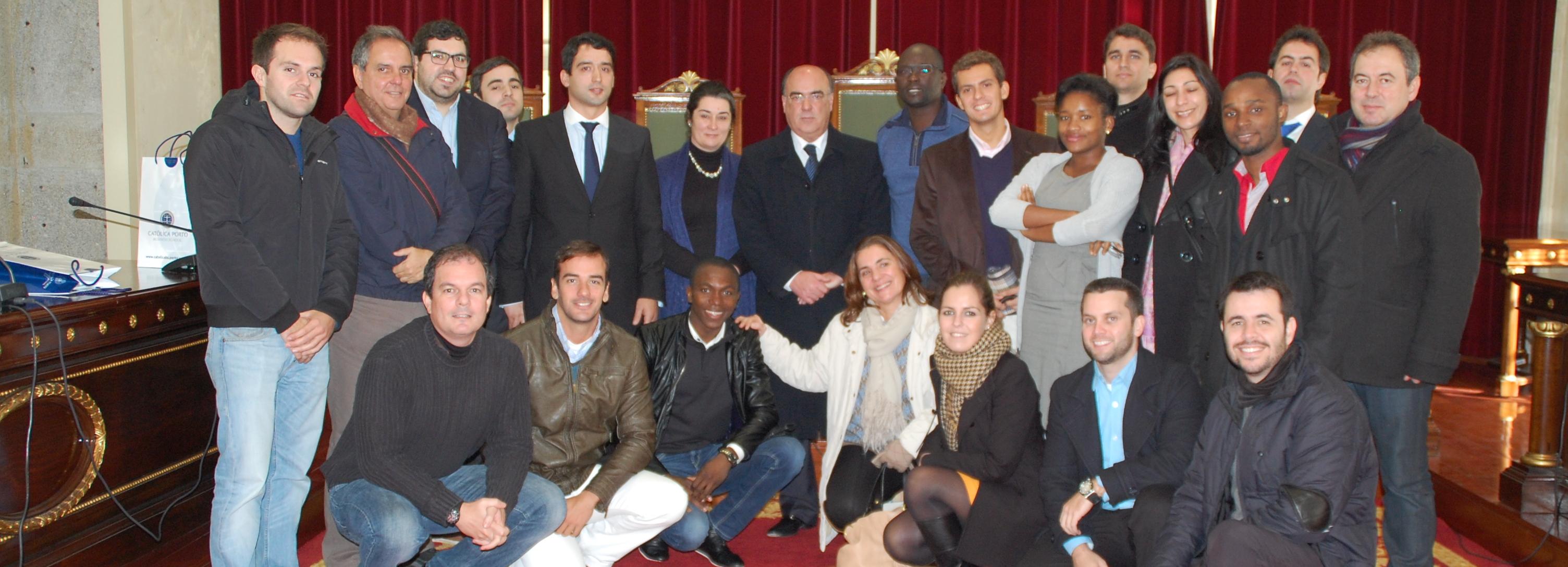 Presidente da Câmara recebeu alunos do MBA Atlântico da Universidade Católica