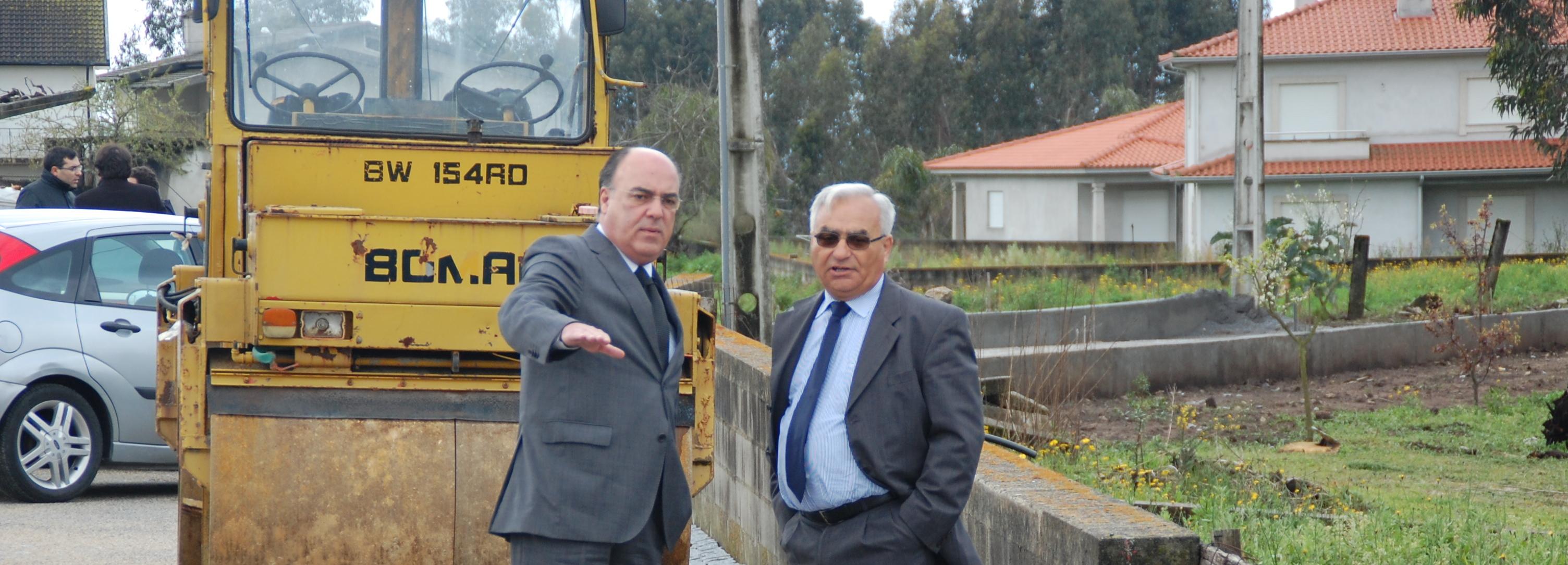 Presidente da Câmara lançou primeira pedra da casa mortuária e visitou obras em Vila Seca