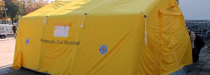 Município adquire tenda insuflável para Proteção Civil