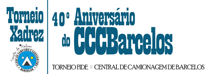 Torneio de Xadrez 40.º aniversário do Clube de Campismo