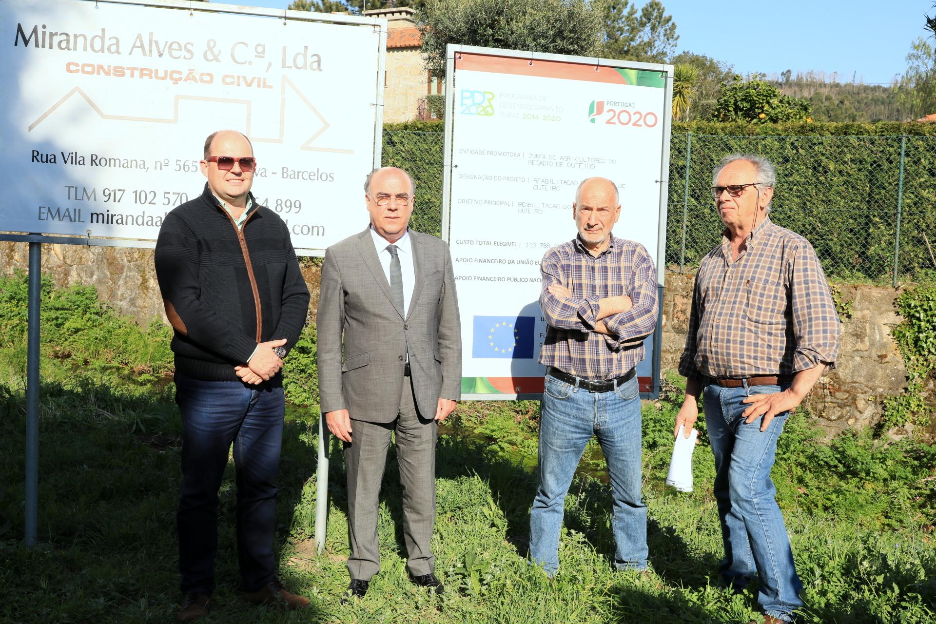 Presidente da Câmara Municipal visita regadios recuperados em Vila Cova
