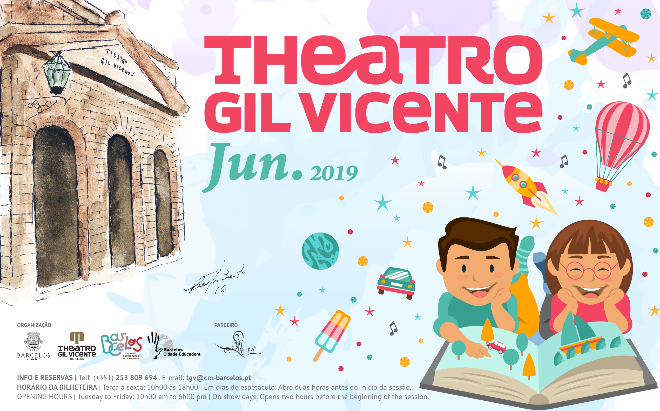 Programação cultural de junho do Theatro Gil Vicente