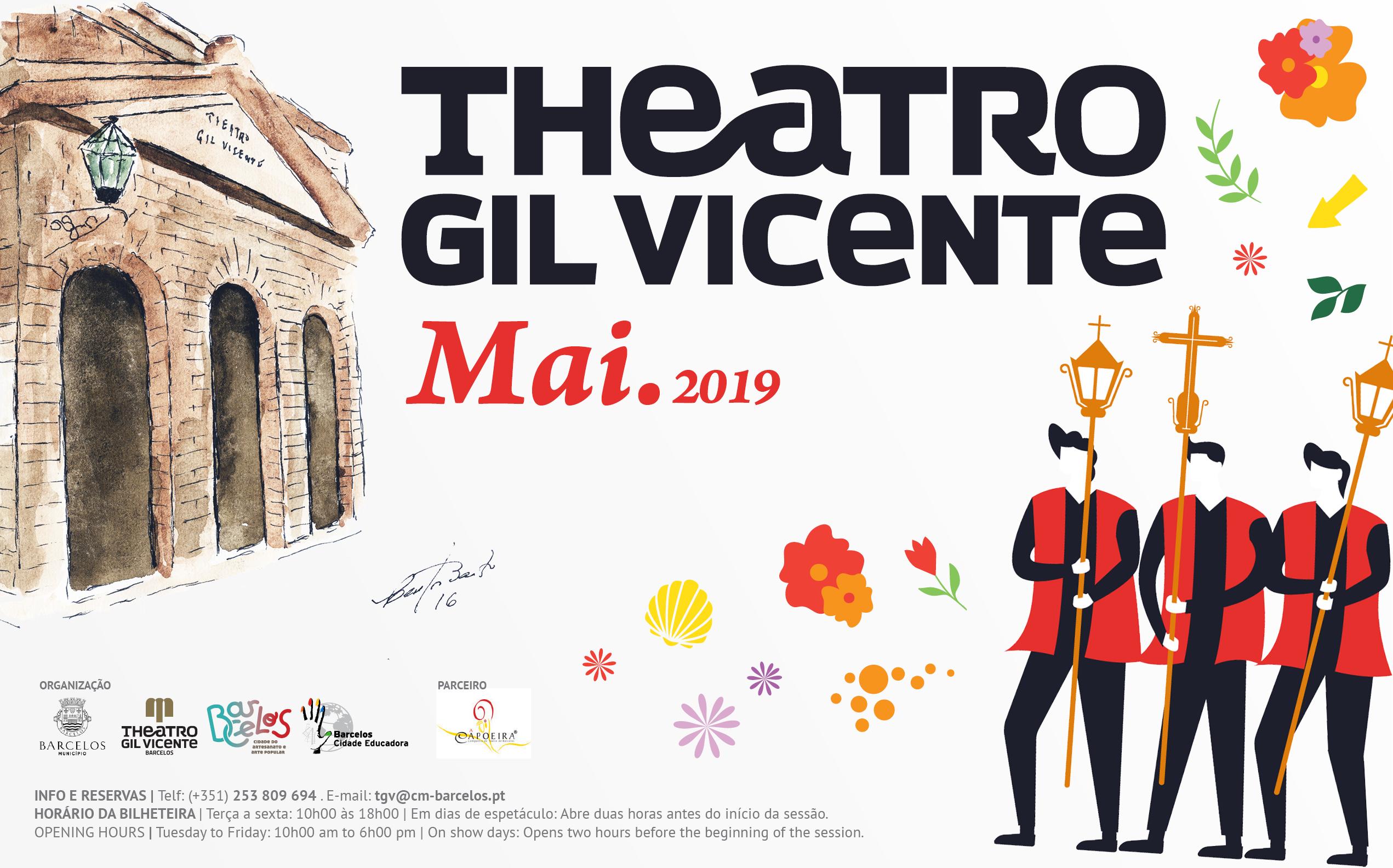 Diversidade marca programação de maio do Theatro Gil Vicente