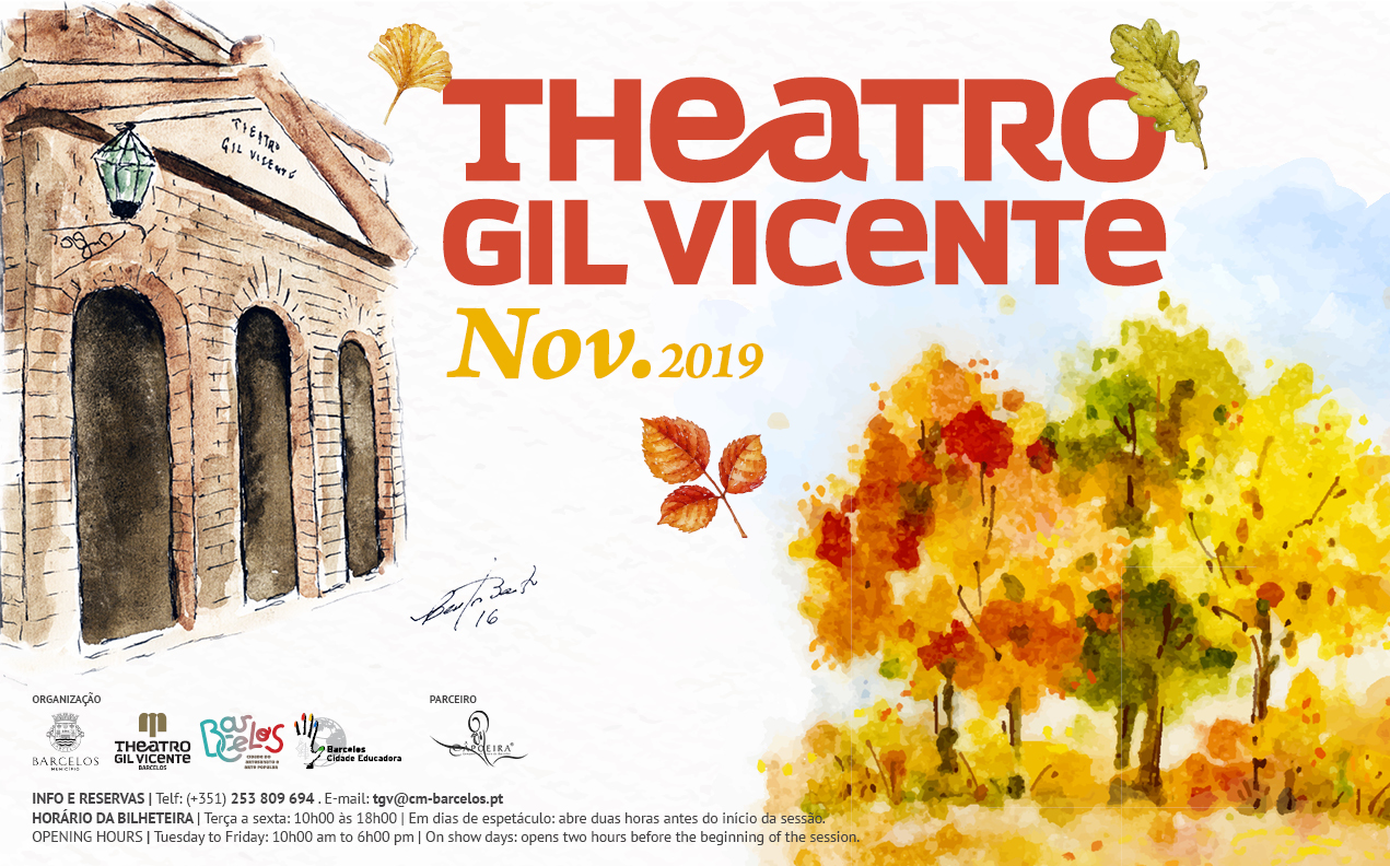Programação cultural de novembro do Theatro Gil Vicente