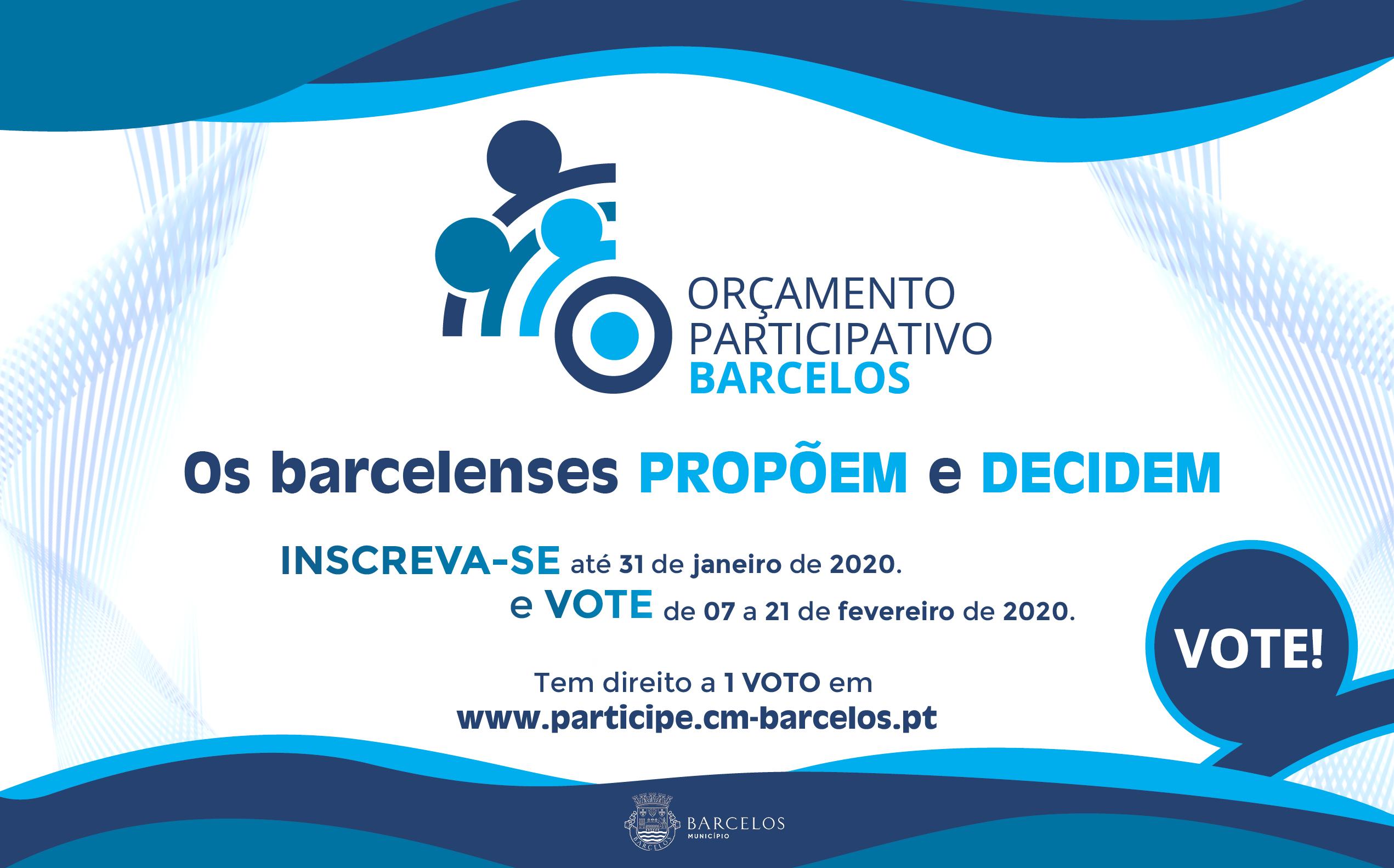 Já são conhecidos os projetos aprovados no Orçamento Participativo de Barcelos 2019