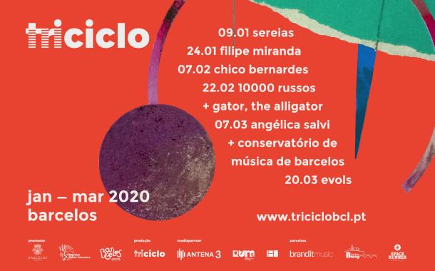 """""""triciclo"""" de volta com Chico Bernardes,  10 000 Russos e Angélica Salvi"""