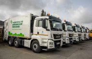 primeiras cinco viaturas de recolha de resíduos...