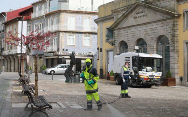 lavagem e desinfeção de ruas da cidade