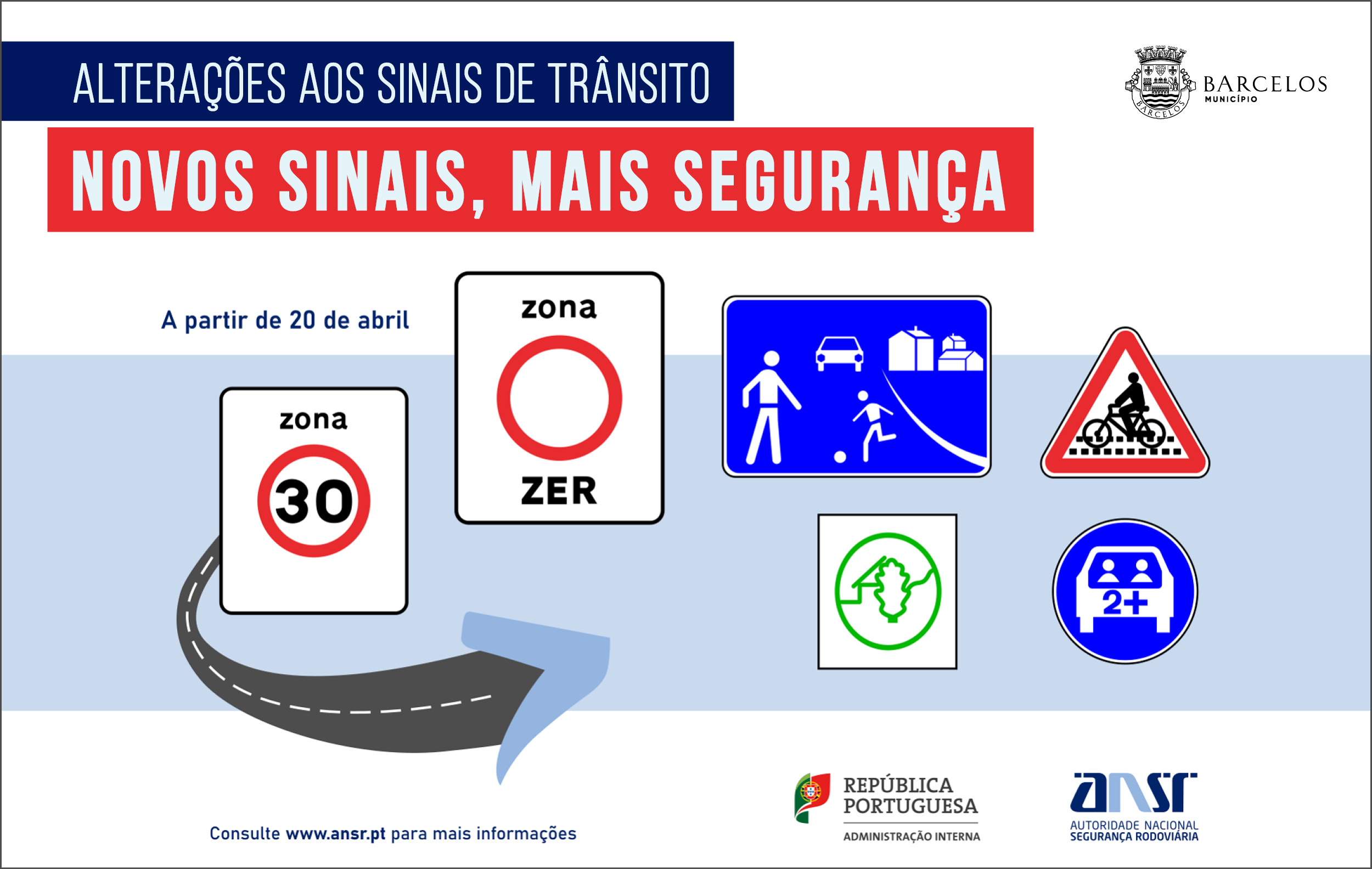 Alterações nos sinais de trânsito entram em vigor a 20 de abril