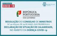 Resolução do Conselho de Ministros n.º 40-A /2020, de 29 de maio, que prorroga a declaração de situação de calamidade, no âmbito da doença Covid-19.