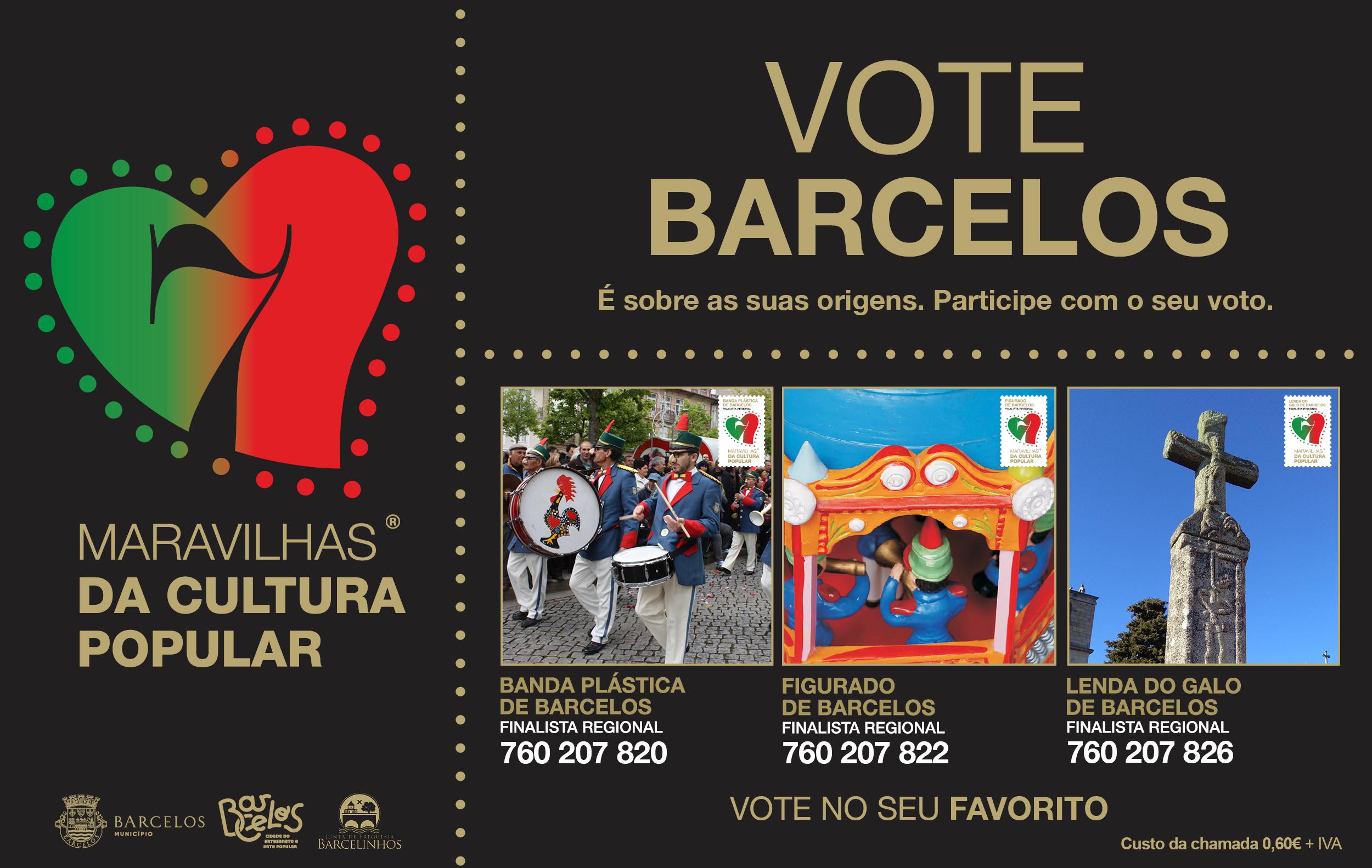 Município de Barcelos é pré-finalista em três categorias às 7 Maravilhas da Cultura Popular