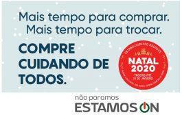 campanha natal 2020: compre cuidando de todos
