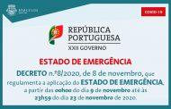 Decreto n.º8/2020, de 8 de novembro, que regulamenta a aplicação do Estado de Emergência
