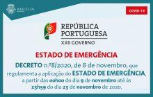 decreto n.º8/2020, de 8 de novembro, que regula...