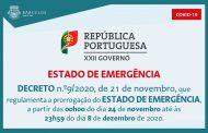 Decreto n.º9/2020, de 21 de novembro, que regulamenta a prorrogação do Estado de Emergência