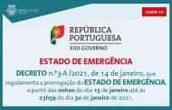 Decreto n.º3-A/2021, de 14 de janeiro, que regulamenta a prorrogação do Estado de Emergência