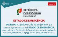 Decreto n.º3-B/2021, de 19 de janeiro, que altera a regulamentação do Estado de Emergência