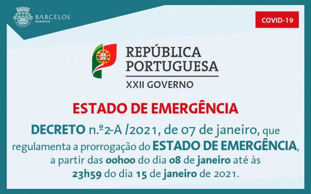 decreto n.º2-a/2021, de 7 de janeiro, que regul...