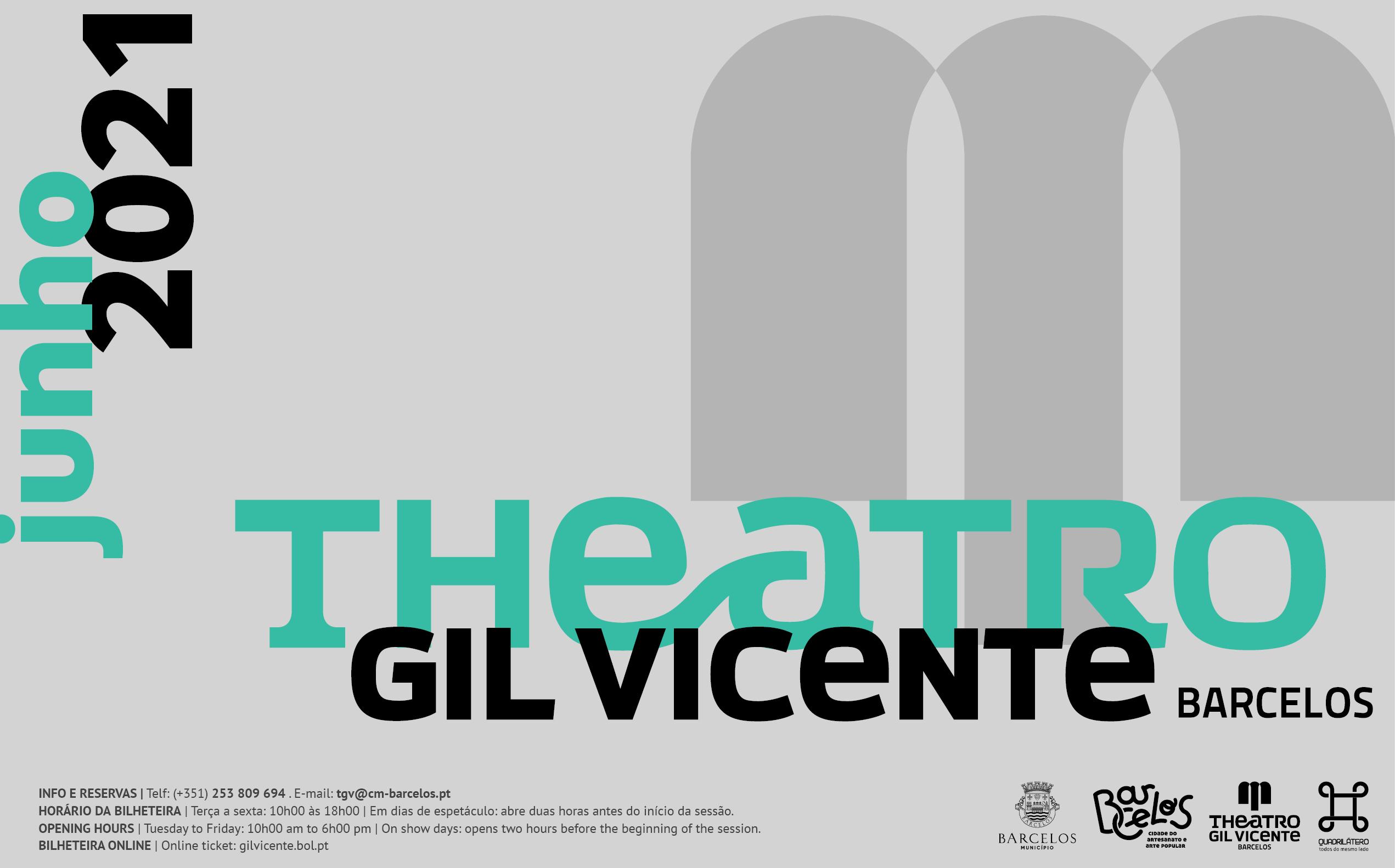 Música e teatro marcam programação cultural do mês de junho do Theatro Gil Vicente