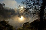 amanhecer rio cávado
