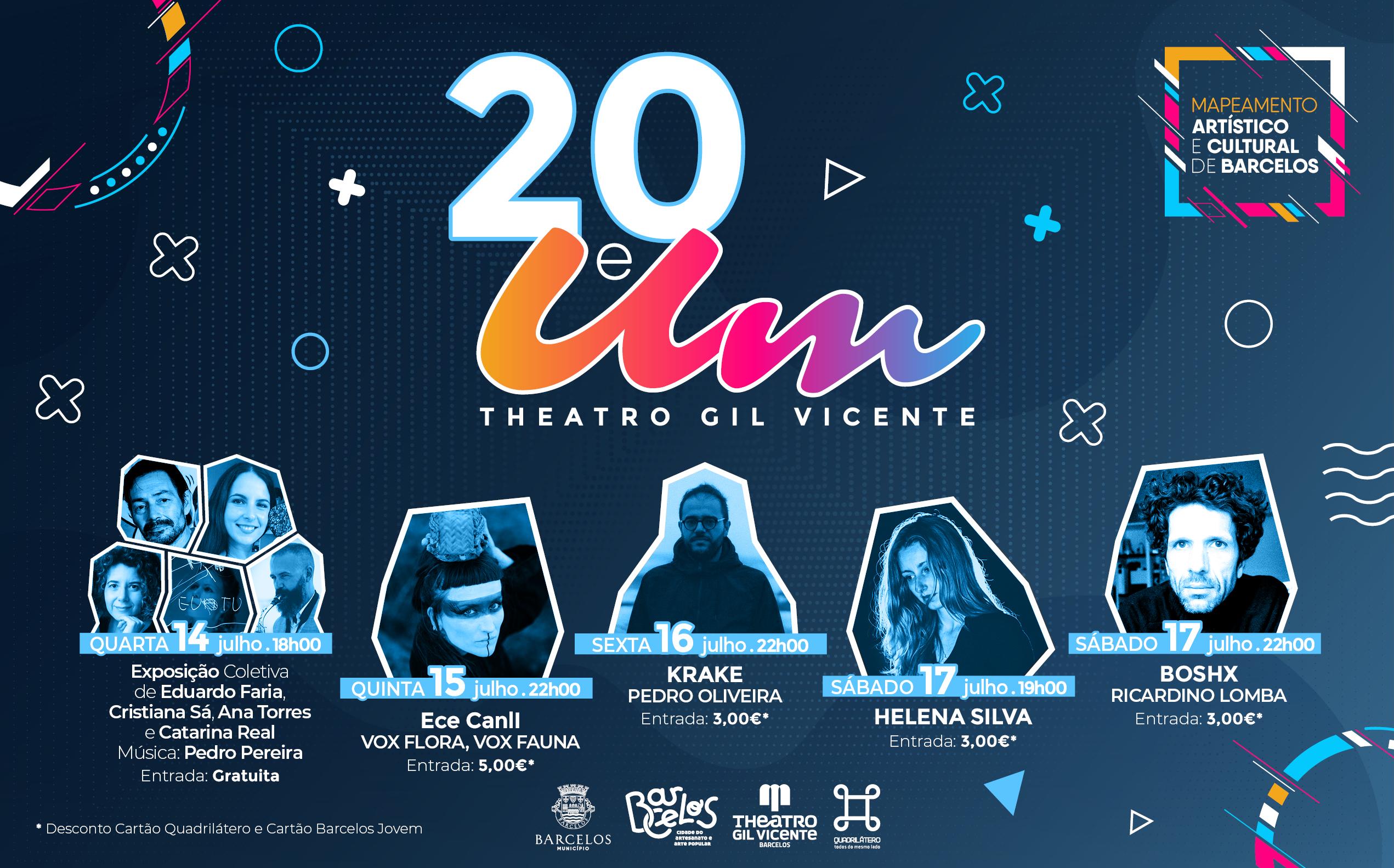 """Theatro Gil Vicente recebe artistas barcelenses na iniciativa """"20 e um"""""""