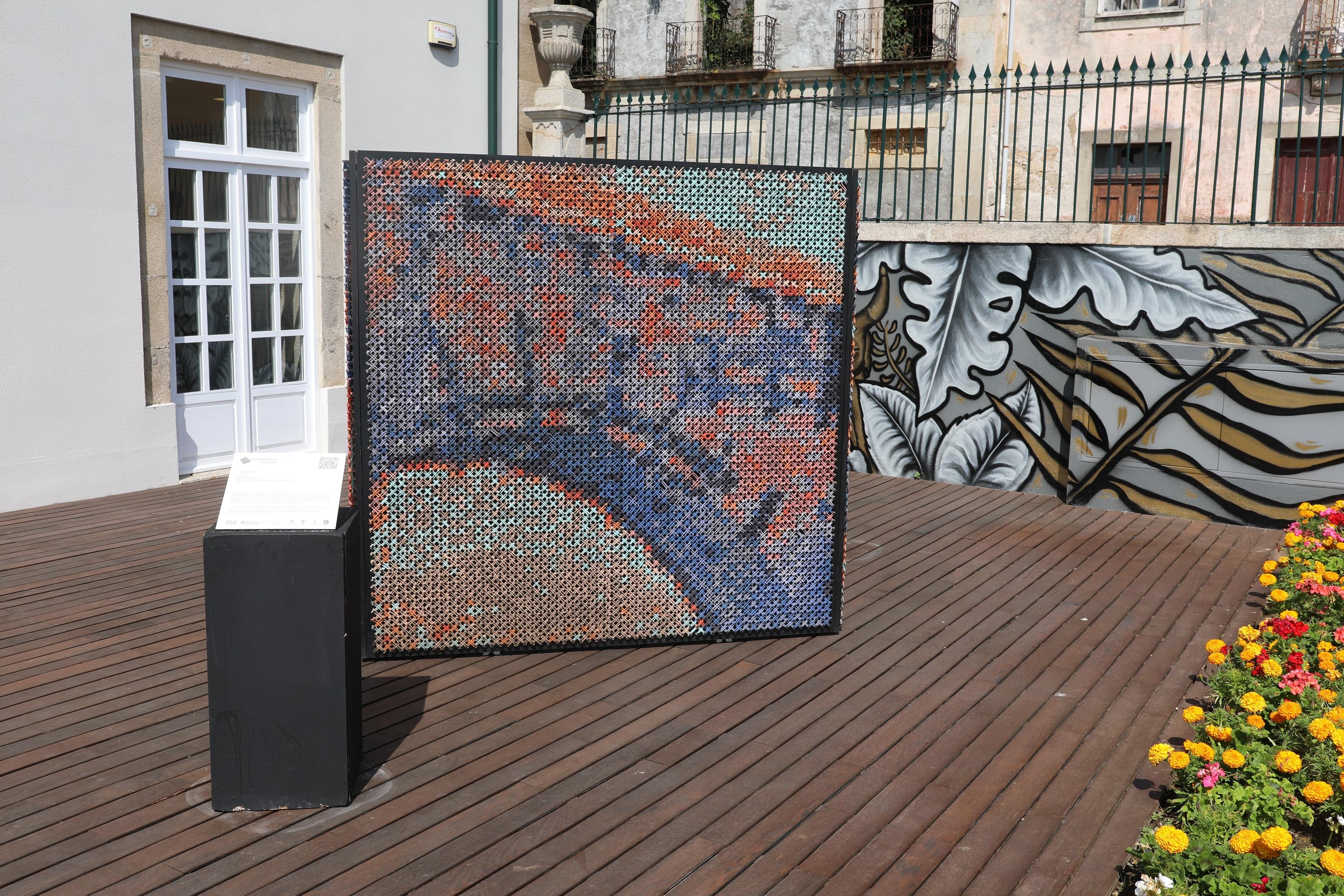 Peça artística do Quadrilátero Cultural em Barcelos
