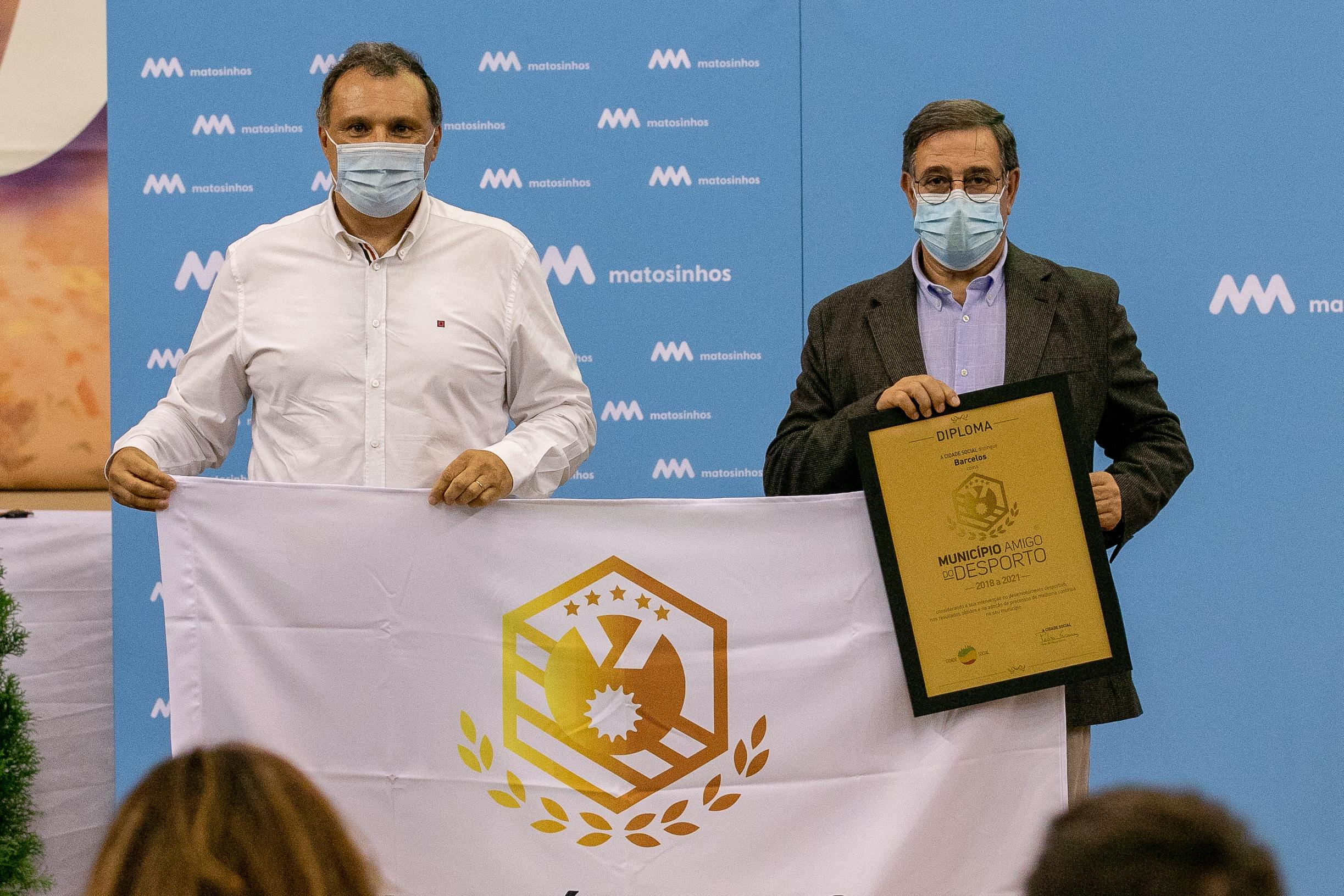 """Barcelos recebe galardão """"Município Amigo do Desporto"""""""